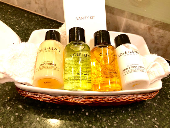 Complementary Toiletries